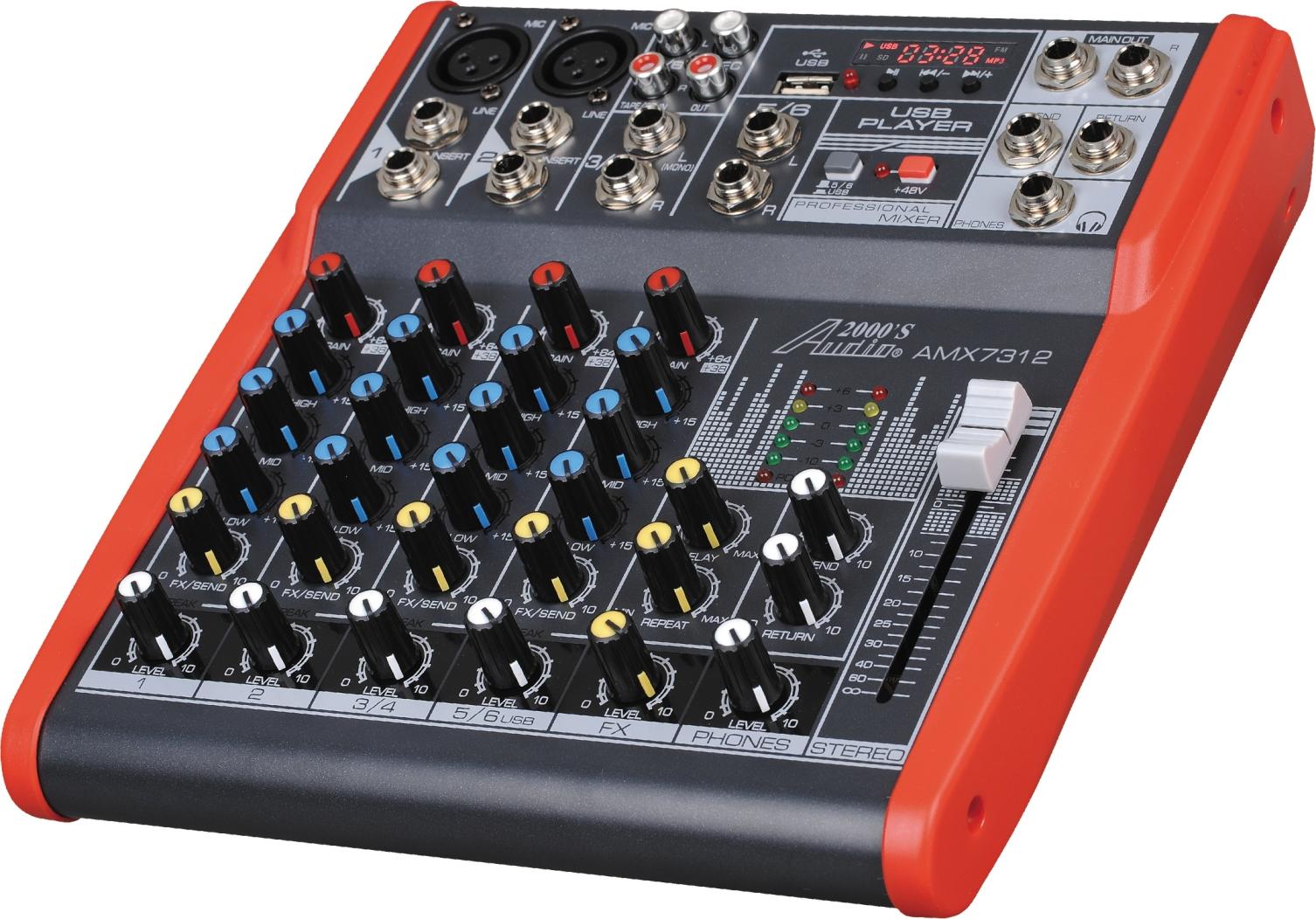 Mixers Amps 6 Channel Audio Mixer Amx7312 Amx7322